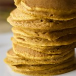 100% Whole Wheat Pumpkin Pancakes