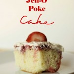 REAL Strawberry Jell-O Poke Cake