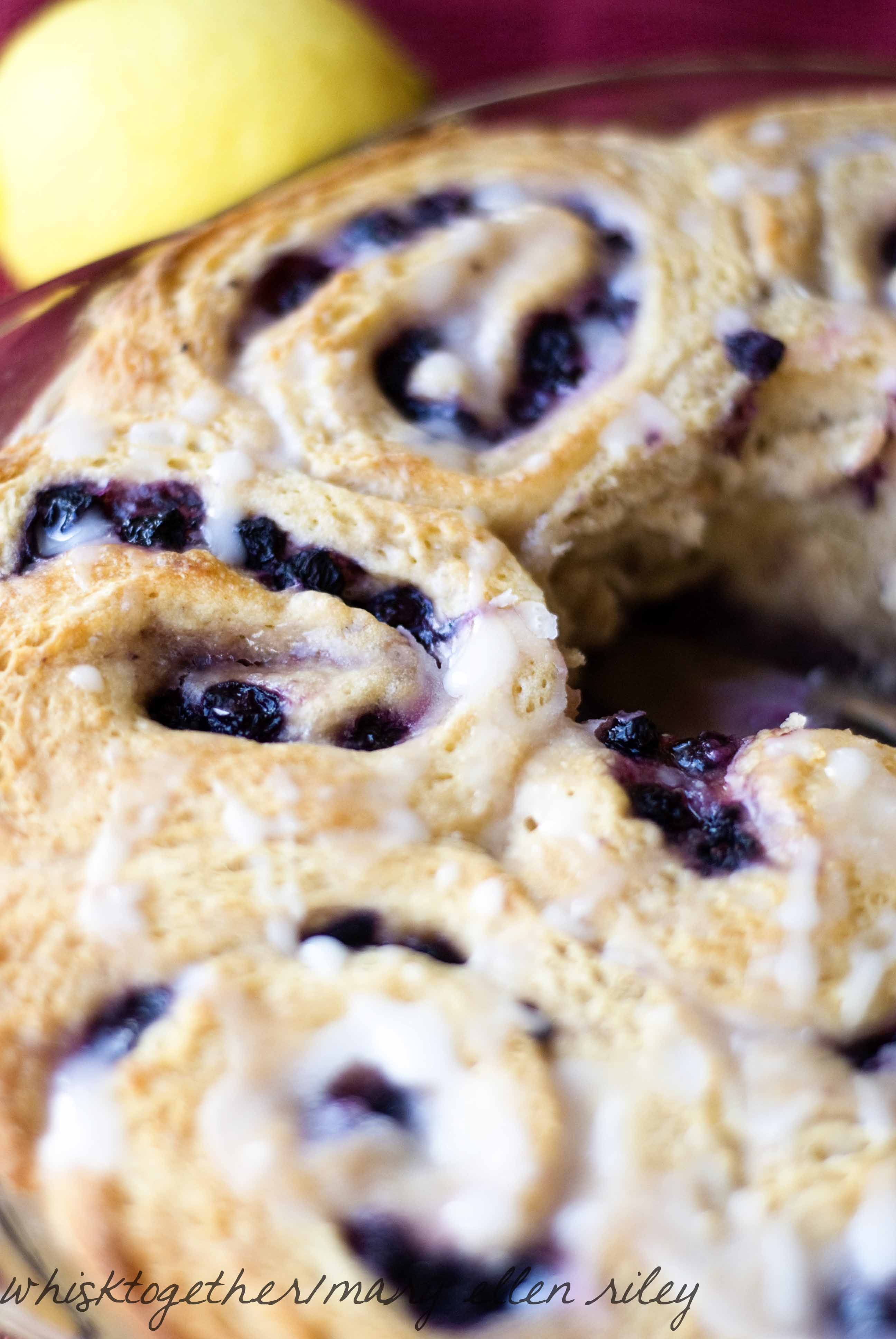 blueberry sweet rolls with lemon icing makes 12 rolls 1