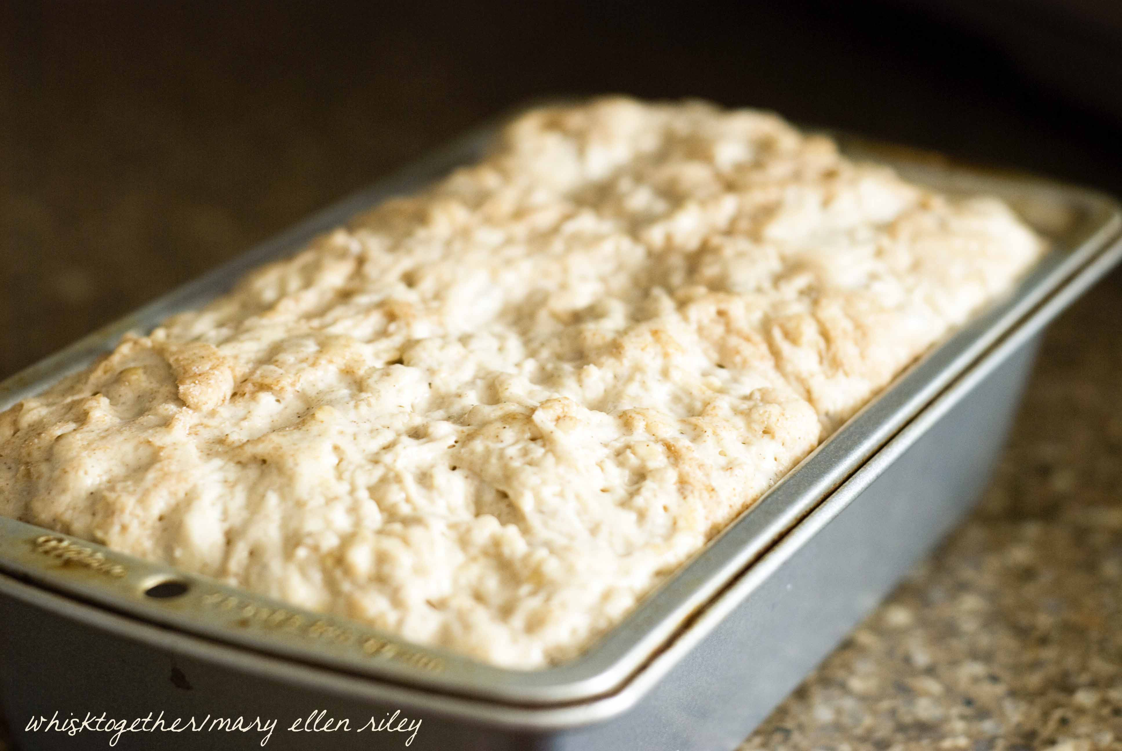 No Knead Cinnamon Honey Oatmeal Bread_1 on Whisk Together