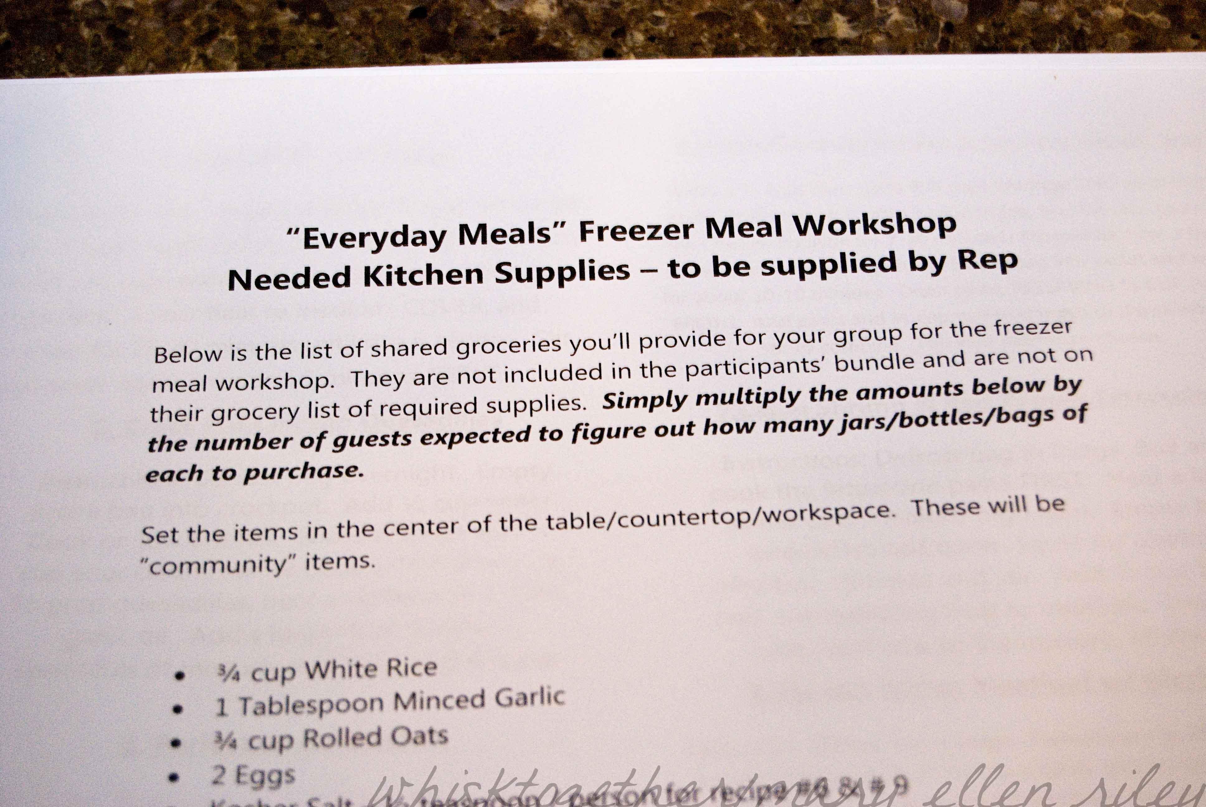 Wildtree Everyday Freezer Meal Workshop_2 on Whisk Together