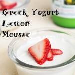 Greek Yogurt Lemon Mousse
